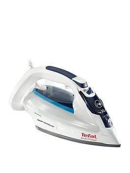 Tefal Tefal Fv4980G0 Smart Protect Steam Iron - White And Blue Picture