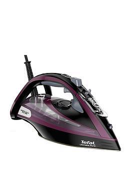 Tefal   Fv9830 Ultimate Pure Steam Iron - Black And Purple