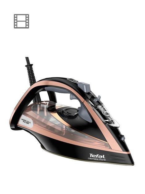 tefal-fv9845-ultimate-purenbspsteam-iron--nbspblack-andnbsprose-gold