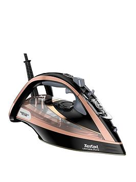 Tefal   Fv9845 Ultimate Pure Steam Iron - Black And Rose Gold