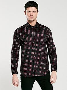 diesel-all-over-print-long-sleeve-shirt-black