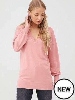 v-by-very-blouson-sleeve-jumper-dusty-pink