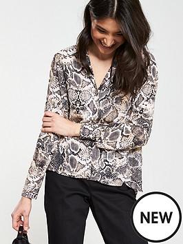 9ba45a2457a3b Wallis Snake Print Pyjama Shirt - Pink