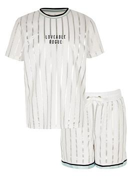 river-island-boys-stripe-mesh-short-outfit-white