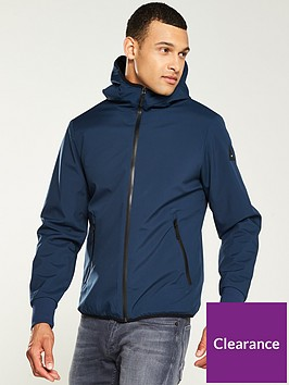 denham-brass-hooded-soft-shell-jacket-navy