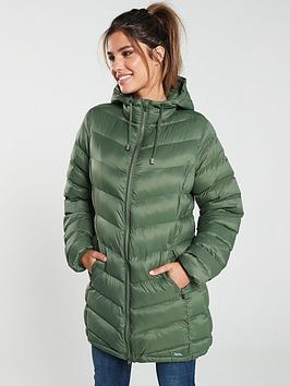 Trespass Trespass Rianna Long Padded Jacket - Basil Green Picture