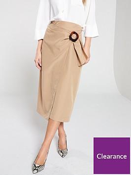 wallis-camel-wrap-skirt
