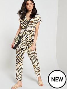 87cd834dd0 Wallis Zebra Jumpsuit - Khaki