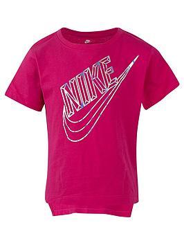 f53418e9b Nike Girls NSW Hi-Lo T-Shirt - Pink | littlewoods.com