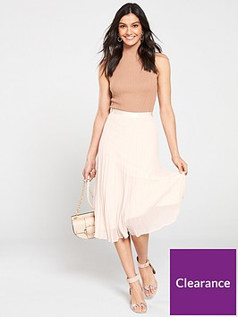 wallis-pleat-midi-skirt-blush