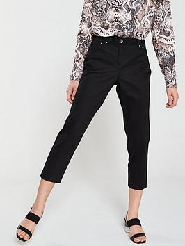wallis-cotton-stretch-crop-trouser-black