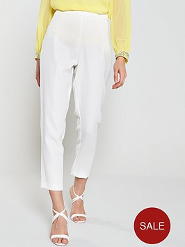 wallis-high-twist-tapered-occasion-trouser-ivory