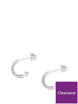 the-love-silver-collection-sterling-silver-half-hoop-bobble-stud-earrings