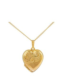 Love GOLD Love Gold 9Ct Rolled Gold Heart Locket Pendant Picture