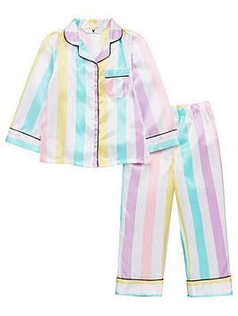 v-by-very-girls-candy-stripe-satin-pyjamas-multi
