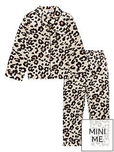 v-by-very-girls-leopard-print-satin-pyjamas-brown
