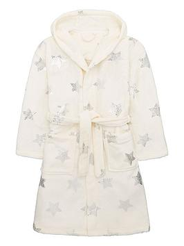 v-by-very-girls-nap-queen-star-print-dressing-gown-cream