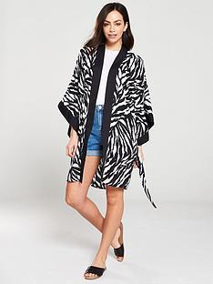warehouse-zebra-print-kimono-blackwhite