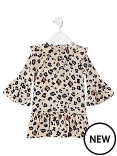 river-island-mini-mini-girls-leopard-print-swing-dress-brown