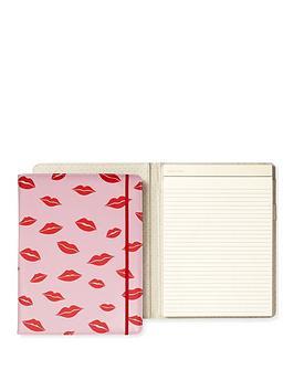 kate spade new york  Kate Spade New York Kate Spade Notepad Folio, Lips