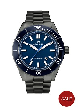 accurist-accurist-blue-and-white-detail-date-dial-black-stainless-steel-bracelet-mens-divers-watch