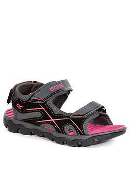 Regatta Regatta Childrens Kota Drift Sandals - Grey/Black/Pink Picture