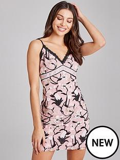 894f351c1814 Little Mistress Embroidery Mini Slip Dress - Rose