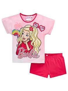 barbie-girls-shortie-pyjamas-pink