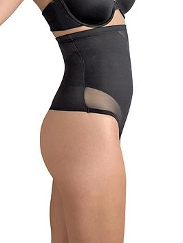 Miraclesuit   Sexy Sheer Shaping Hi-Waist Thong - Black