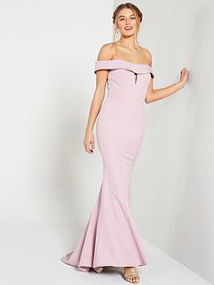 jarlo-jarlo-aja-folded-bardot-fishtail-maxi-dress