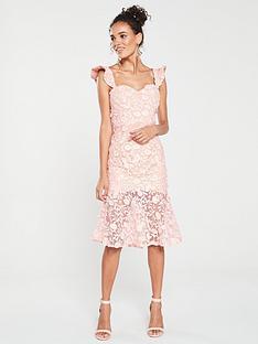 jarlo-jarlo-tootsie-bardot-lace-sheer-hem-dress