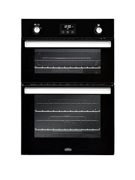 belling-bel-bi902g-90cm-built-in-gas-double-oven-black
