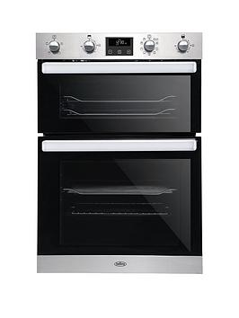 Belling   Bel Bi902Mfct 90Cm Built In Electric Double Oven With Bluetooth Connectivity - Stainless Steel