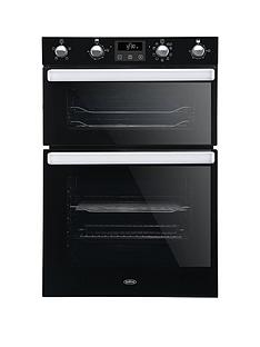 belling-bel-bi902mfct-90cm-built-in-electric-double-oven-with-bluetooth-connectivity-black