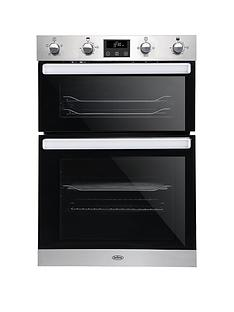 belling-bel-bi902fp-90cm-built-in-electric-double-oven-stainless-steel