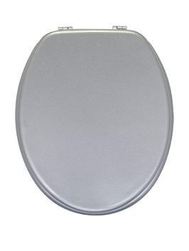 AQUALONA Aqualona Silver Effect Mdf Toilet Seat Picture