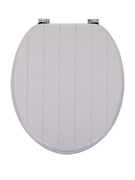 AQUALONA  Aqualona Grey Tongue And Groove Toilet Seat