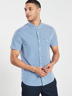 superdry-premium-university-jet-short-sleeve-shirt-blue-gingham