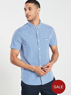 superdry-premium-university-jet-short-sleeve-shirt-blue-gingham