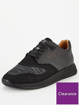 boss-titanium-leather-knit-trainer-black