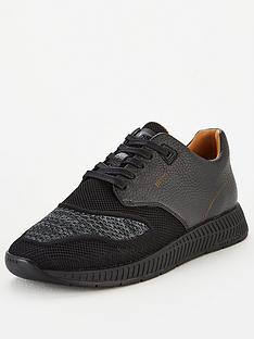 boss-titanium-leather-knit-trainer