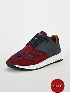 boss-titanium-leather-knit-trainers-navyred