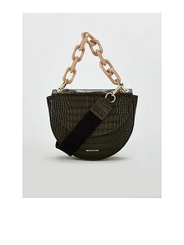 whistles-felix-leather-croc-resin-chain-saddle-bag-black