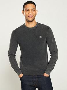 boss-kalassyo-textured-knit-jumper-grey