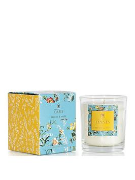 Oasis Home Oasis Home Leighton Freesia And Musk Boxed Candle Picture