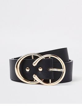 river-island-river-island-horseshoe-gold-buckle-belt-black