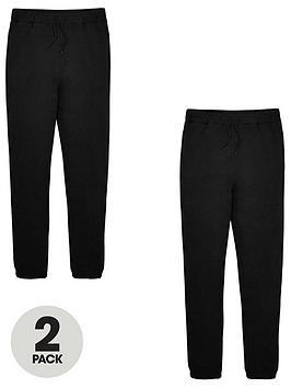 v-by-very-unisex-2-pack-basic-jogging-bottoms-black