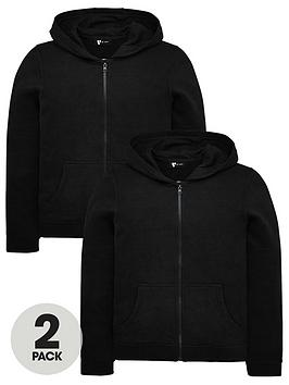 v-by-very-unisex-2-pack-basic-hoodies-black