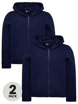 V by Very V By Very Unisex 2 Pack Basic Hoodies - Navy Picture