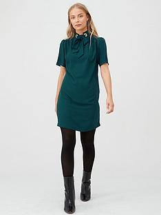 v-by-very-eyelet-tunic-dress-green